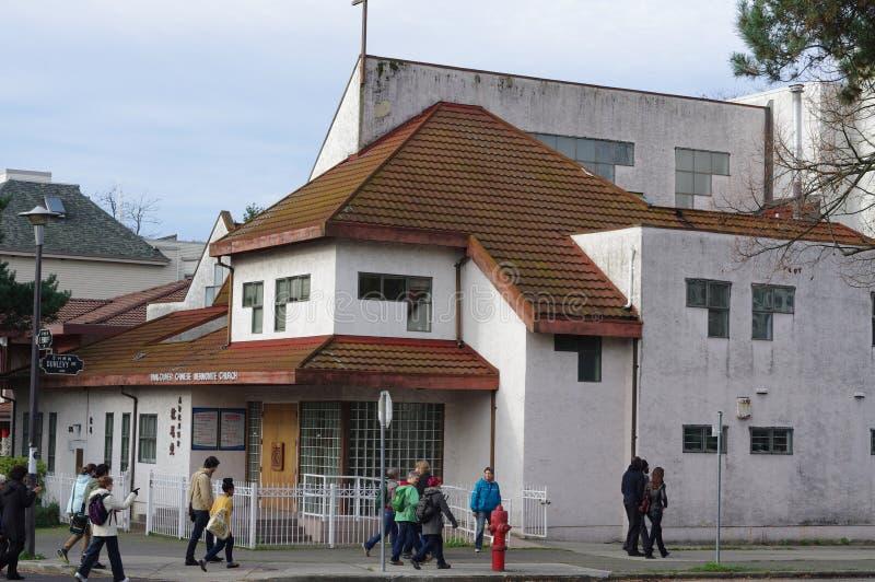 Chinesische Kirche in Vancouvers Chinatown lizenzfreie stockfotografie