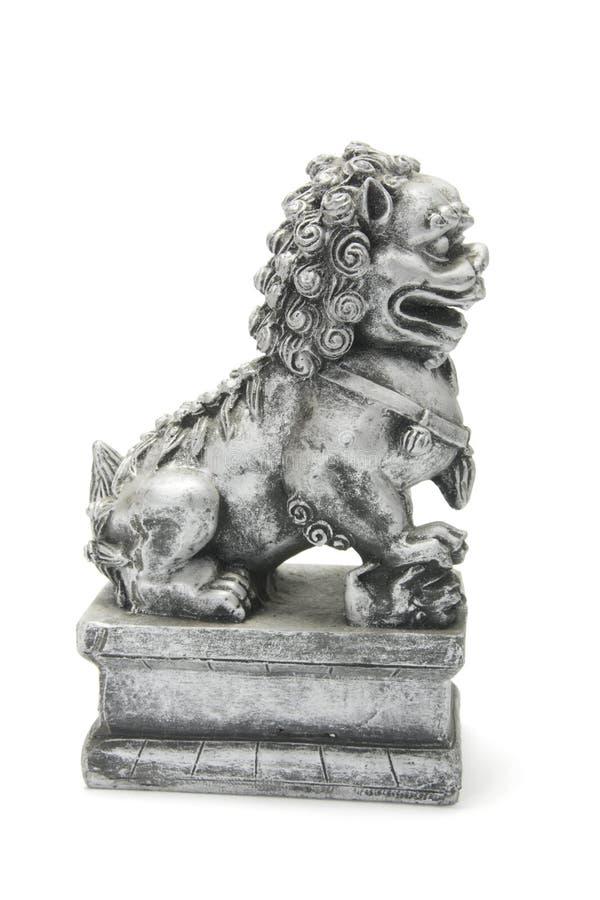 Chinesische Löwe-Statue stockbilder