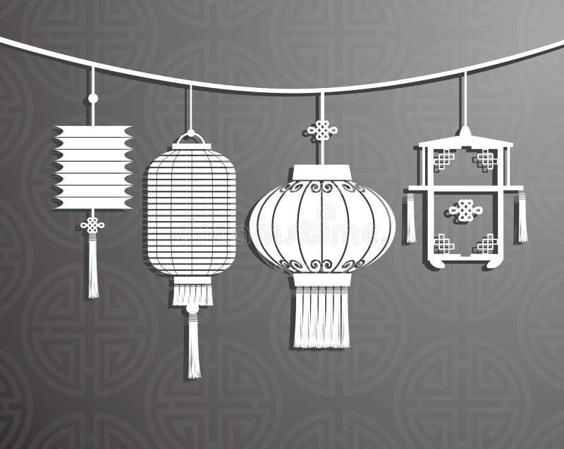 Chinesische Laterne lizenzfreie abbildung