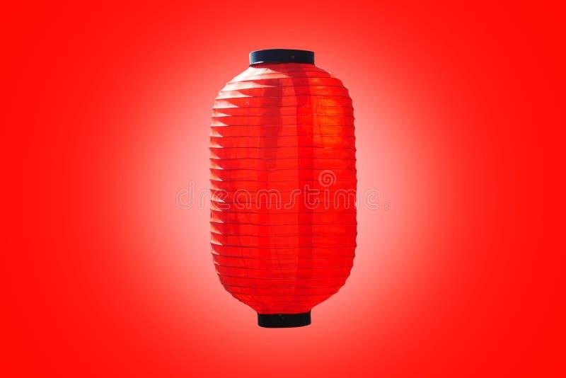 Chinesische Laterne lokalisiert auf Rot stockfotografie