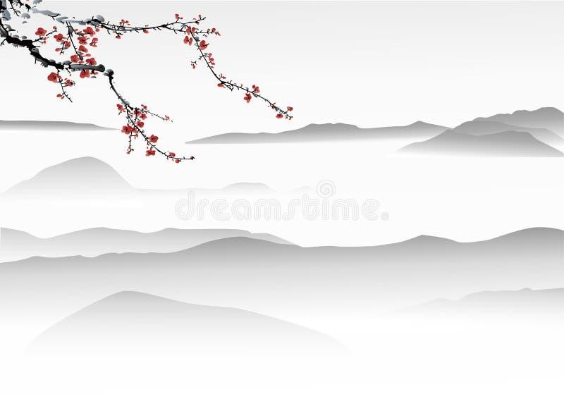 Chinesische Malerei vektor abbildung