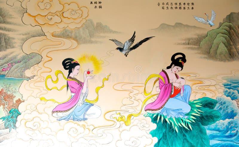 Chinesische Malerei lizenzfreie abbildung