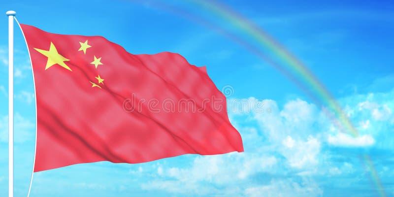 Chinesische Markierungsfahne stockbild