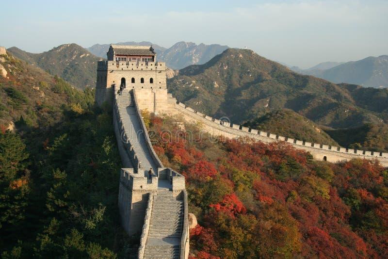 Chinesische Mauer lizenzfreie stockfotos