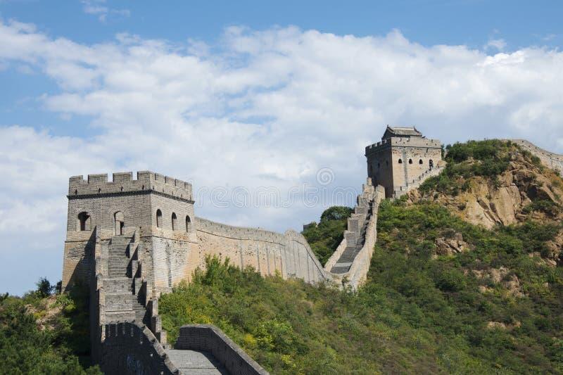 Chinesische Mauer bei Jinshanling stockbilder