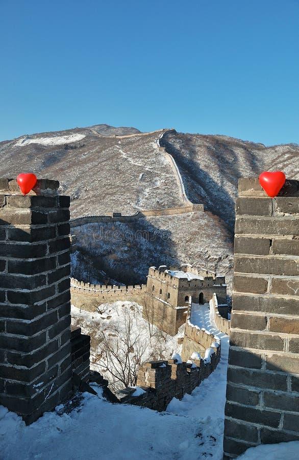 Chinesische Mauer beim Lieben lizenzfreies stockfoto