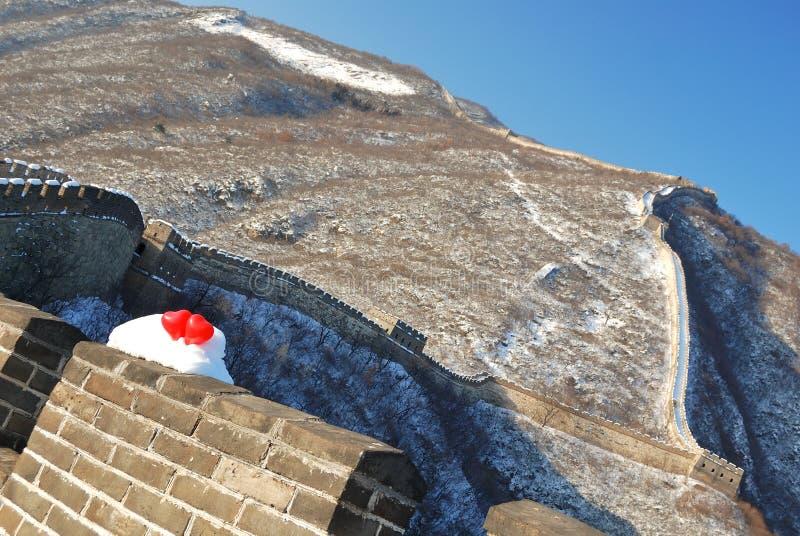 Chinesische Mauer beim Lieben stockfoto