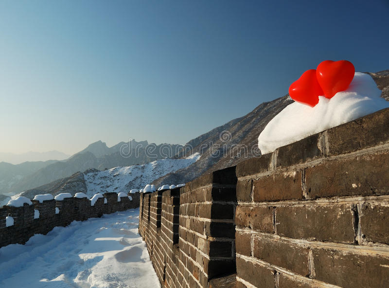 Chinesische Mauer beim Lieben lizenzfreies stockbild