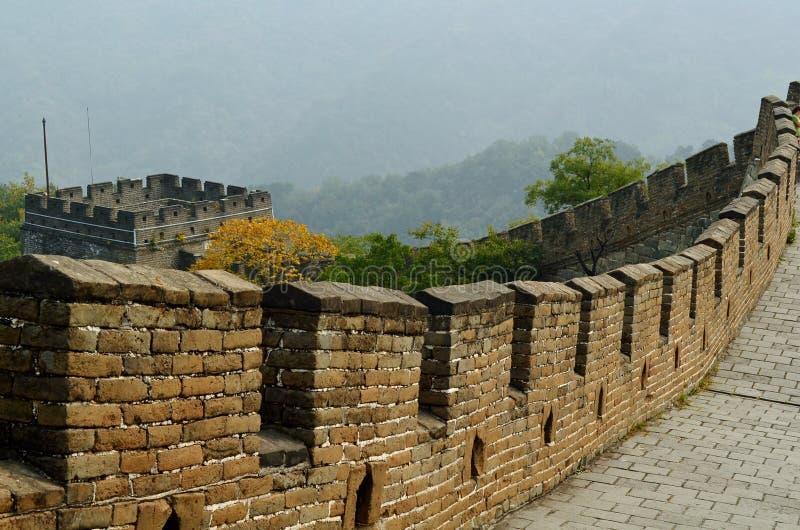 Chinesische Mauer des Porzellans, Mutianyu lizenzfreie stockfotografie