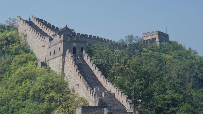 Chinesische Mauer im Sommer stockfotografie