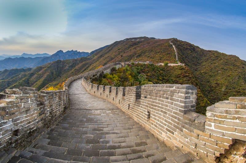 Chinesische Mauer, Mutianyu, China stockbilder
