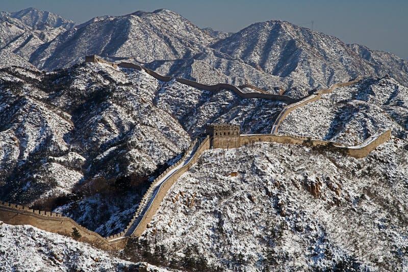 Chinesische Mauer von China panoramisch lizenzfreie stockfotos