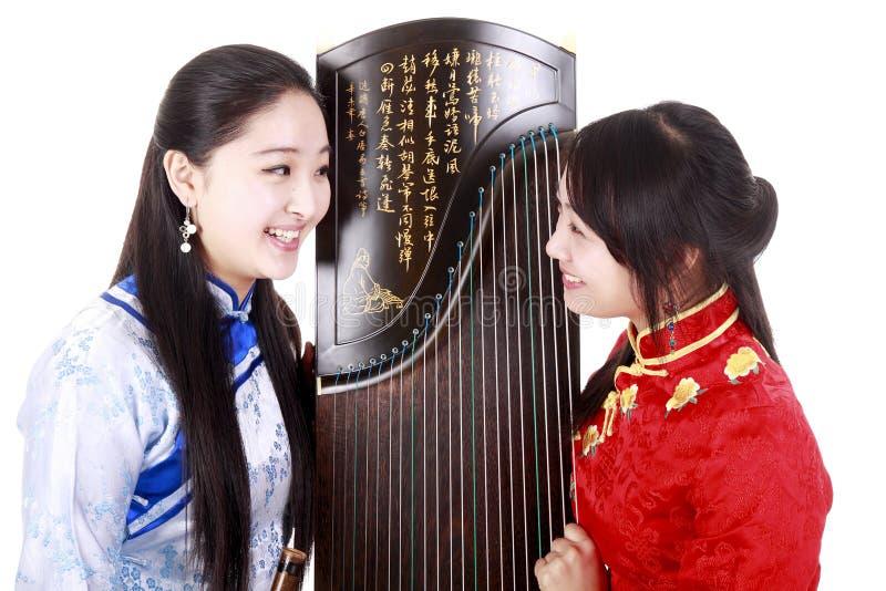 Chinesische Musiker lizenzfreie stockbilder