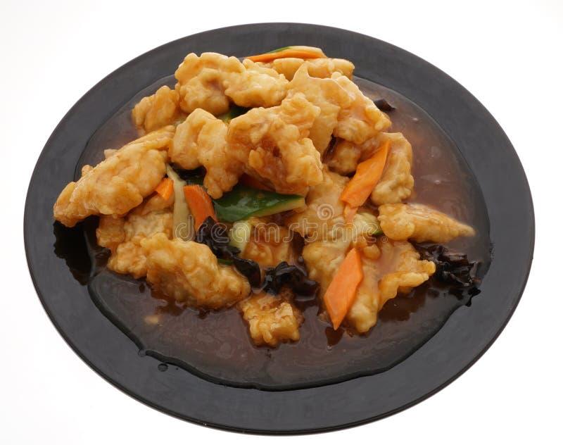 Chinesische Nahrung Fische in der süß-sauren Soße stockbild