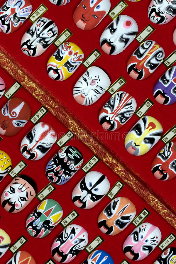 Chinesische Operen-Schablonen - v stockbilder
