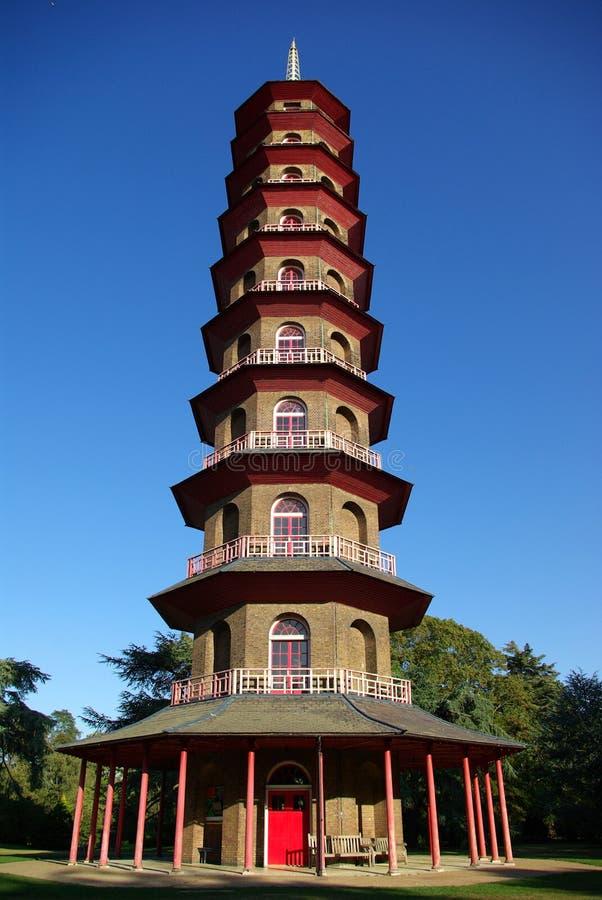 Chinesische Pagode in den Kew Gärten lizenzfreie stockfotografie