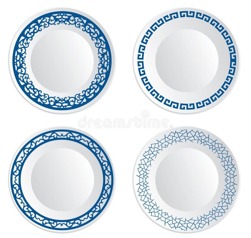 Chinesische Porzellanplatte stock abbildung