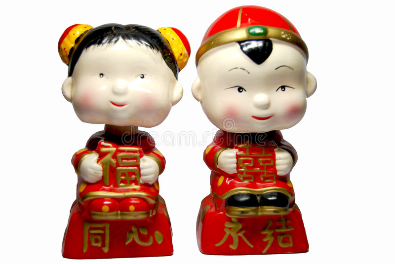 Chinesische Puppe lizenzfreie abbildung