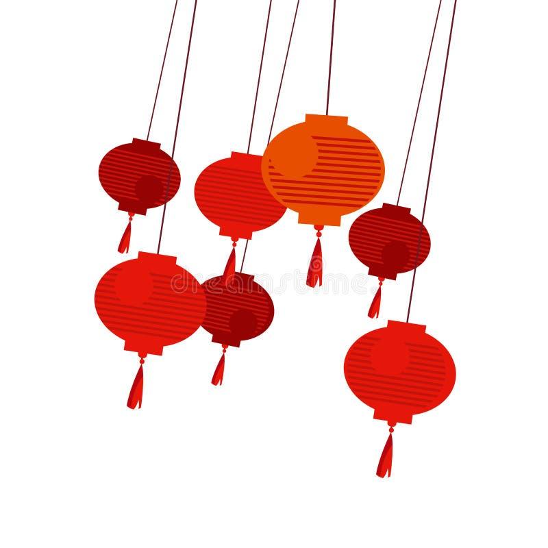 Chinesische rote Laterne stock abbildung