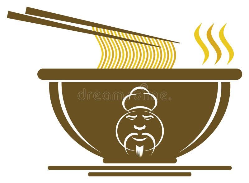Chinesische Schüssel mit Chef-Zeichen stock abbildung
