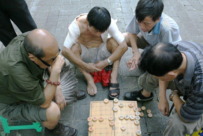 Chinesische Schachspieler lizenzfreie stockfotos