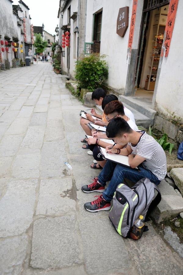 Chinesische Schulkinder stockfoto