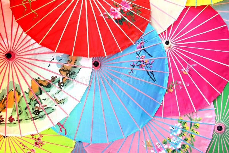 Chinesische Sonnenschirme stockbild