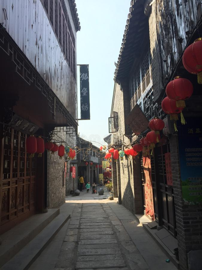 Chinesische Stadt stockbild