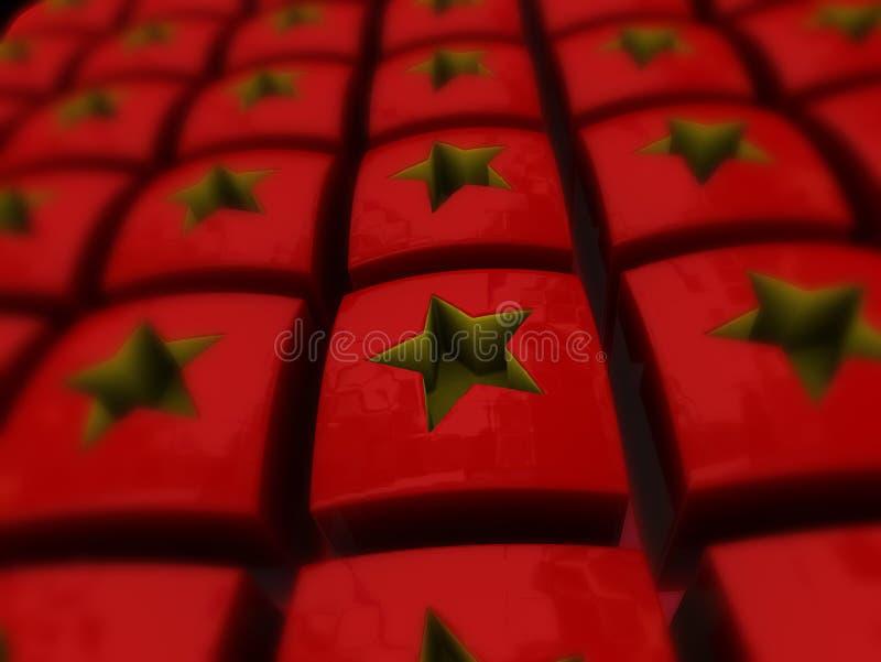 Chinesische Sterne stockfoto