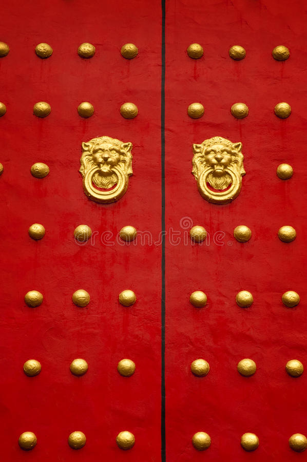 Chinesische Tür stockbild