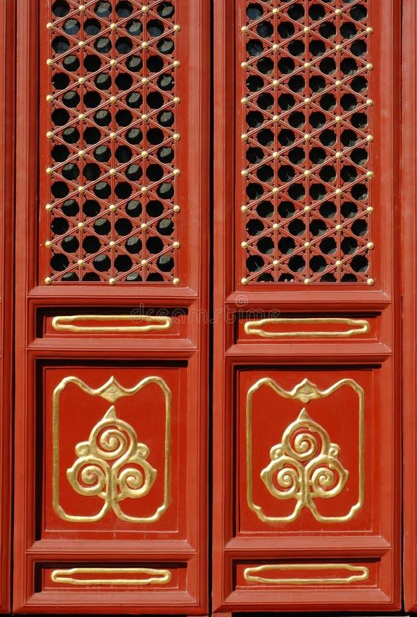 Chinesische Tür lizenzfreies stockbild