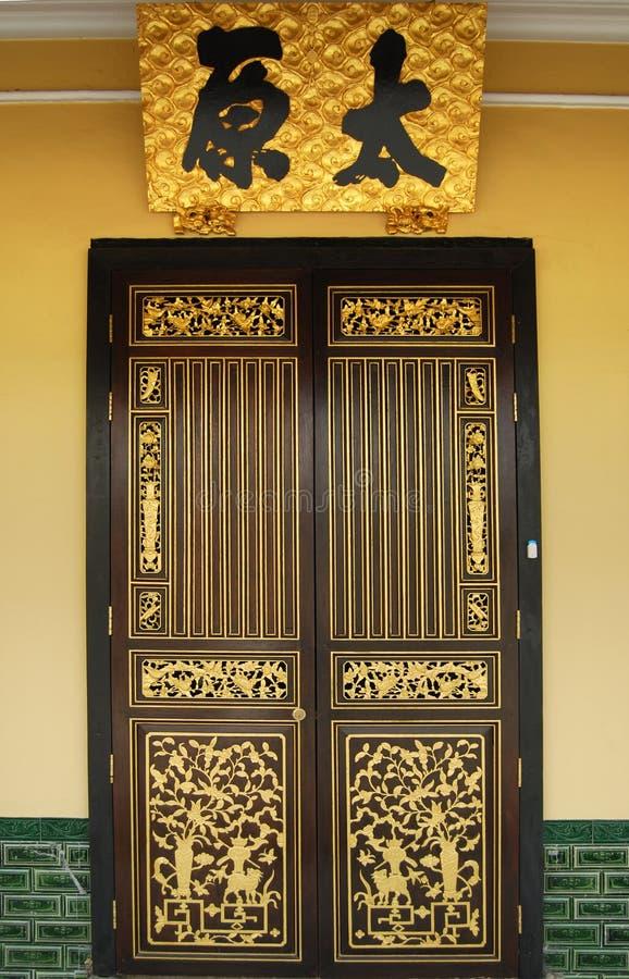 Chinesische Tür stockbilder