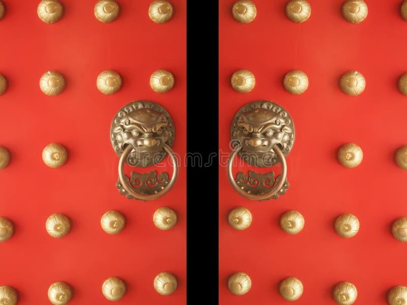 Chinesische Tür-Tempel-Eingangs-Öffnung stockfotos