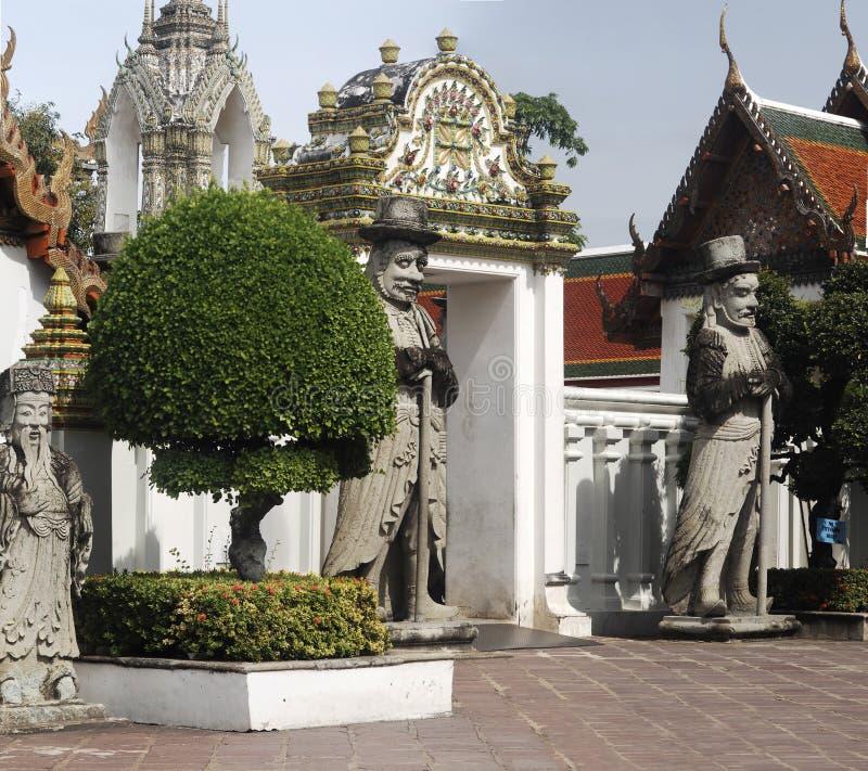 Chinesische Tempel-Art Bangkok stockfotos