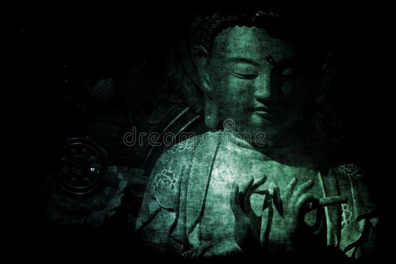 Chinesische Tempel-Auszugs-Hintergrund-Tapete vektor abbildung