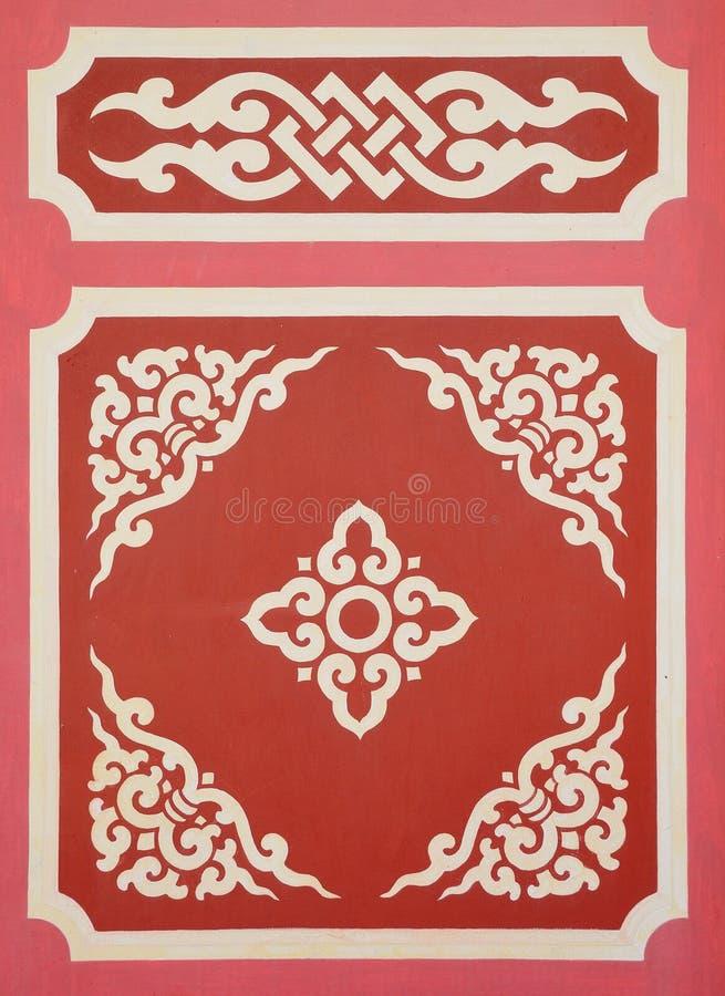 Chinesische Tempelkunst stockbild