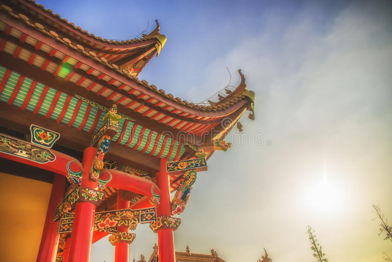 Chinesische traditionelle Architektur stockfoto