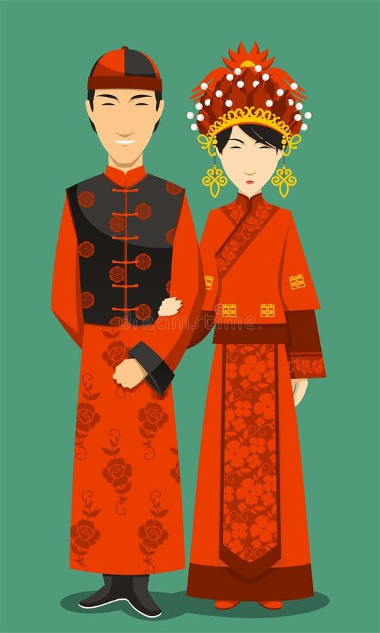 Chinesische Traditionelle Brautkleider Stockbild - Bild von ...