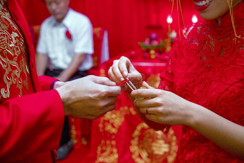 Chinesische traditionelle Hochzeitszeremonie lizenzfreies stockbild