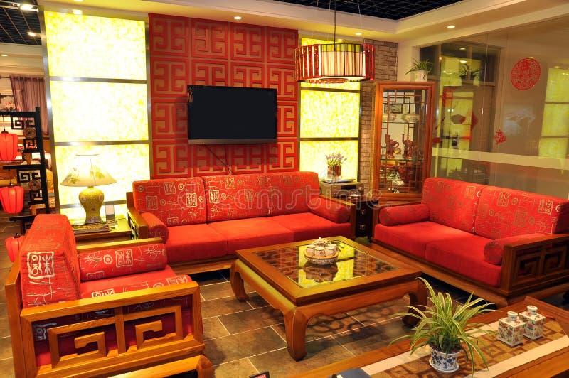 Chinesische traditionelle Möbel stockbild