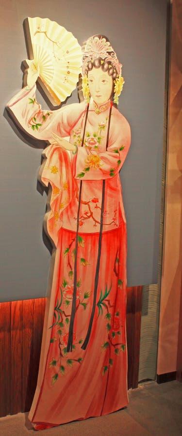 Chinesische traditionelle Opernzahl Statuen lizenzfreies stockfoto