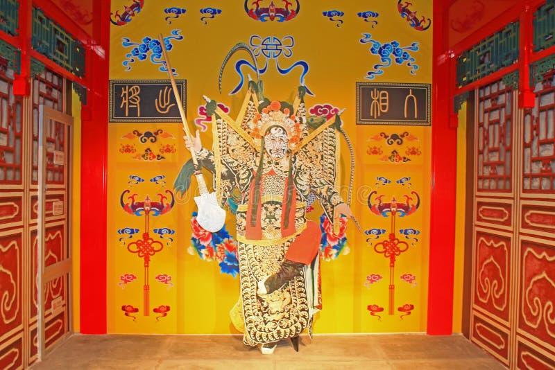 Chinesische traditionelle Opernzahl Statuen lizenzfreies stockbild