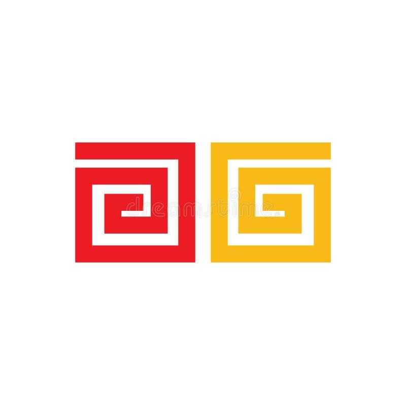 Chinesische in Verbindung stehende Ikone des neuen Jahres auf Hintergrund für Grafik und Webdesign Einfaches Vektorzeichen Intern vektor abbildung