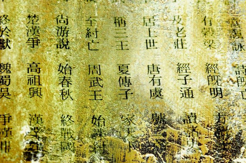 Chinesische Wörter lizenzfreies stockfoto