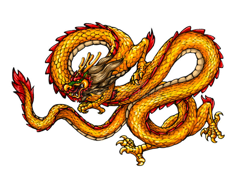 Chinesischer alter Artdrache vektor abbildung