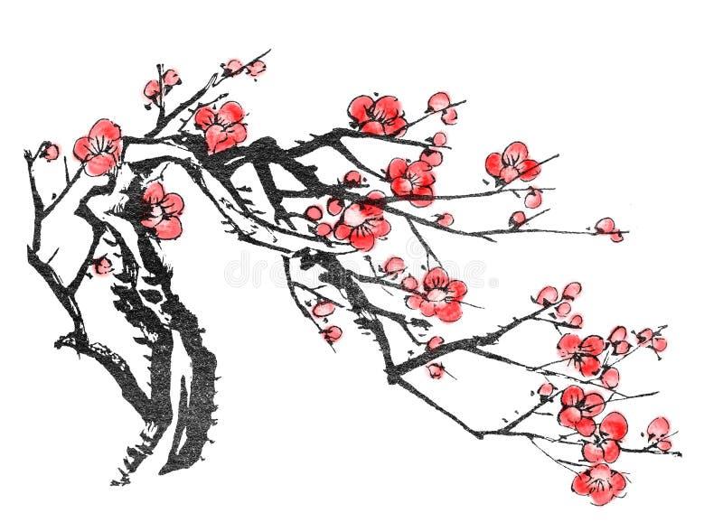 Chinesischer Anstrich stock abbildung