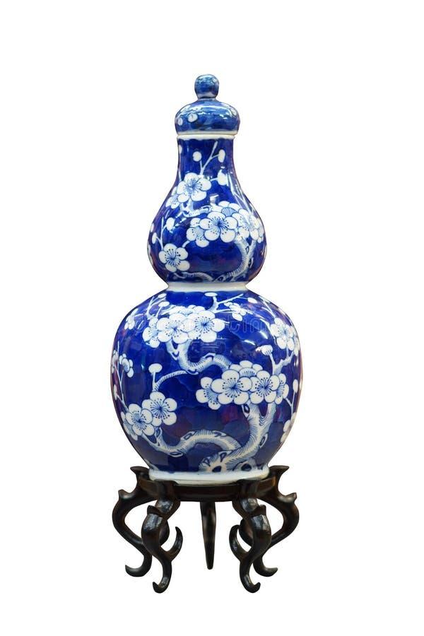 Chinesischer antiker blauer und weißer Vase lizenzfreie stockbilder