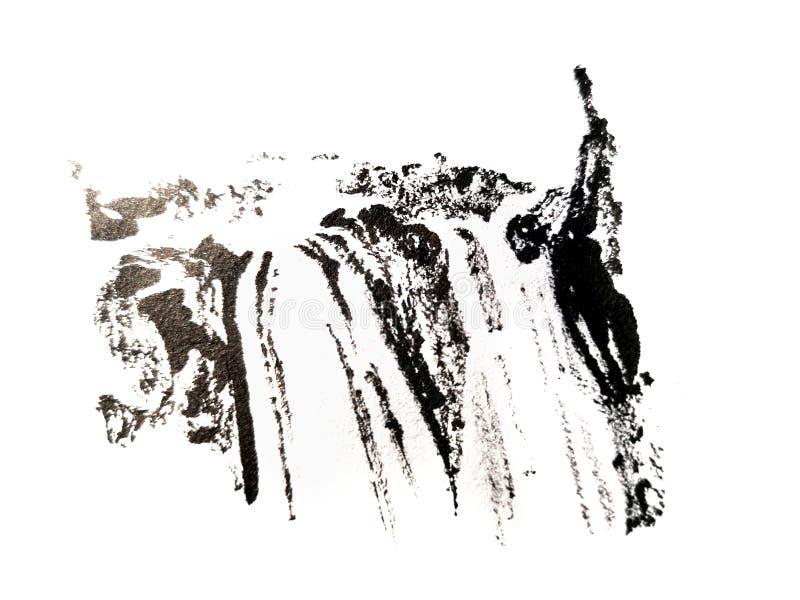 Chinesischer B?rstenanschlag, der freih?ndig malt lizenzfreie abbildung