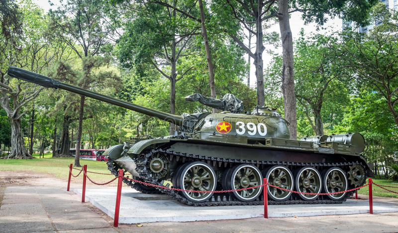 Chinesischer Behälter im Wiedervereinigungs-Palast, Ho Chi Minh  lizenzfreies stockbild