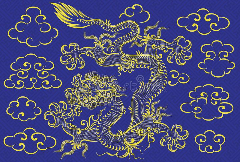 Chinesischer Drache lizenzfreie abbildung